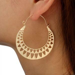Boho Round Hoop Ethnic Earrings